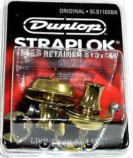 Dunlop Strap Locks - Guitar -Original Slim Button Strap Retainer System Brass