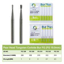 Wave Dental Tungsten Carbide Bur Friction Grip Pear Fg 330 331 332 Midwest Prima