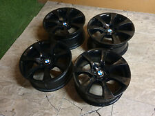 "4x Genuine BMW 5 Series E60 18"" Alloy wheels Staggered Black E61 Style 124"