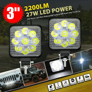 "1PCS 3"" LED WORK LIGHT BAR SPOT PODS FOG LAMP OFFROAD DRIVING TRUCK SUV ATV 4WD"