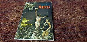 Julius Erving Dr. J New York Nets 1976 press media guide NBA history