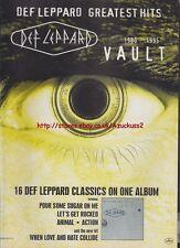 "Def Leppard ""Vault"" 1995 Magazine Advert #1073"