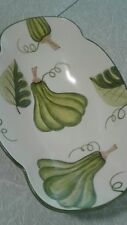 """VINTAGE CALIFORNIA POTTERY SERVING BOWL 1999 NEVER USED 13 1/2"""" LAURIE GATES"""