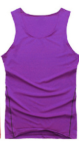Mens Sports Compression Base Layers Tops Tight Tank T-Shirts Vests