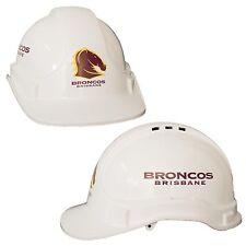 Brisbane Broncos NRL Light Weight Vented Safety Hard Hat Work Man Cave Gift