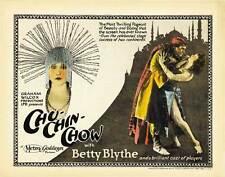 CHU-CHIN-CHOW Movie POSTER 22x28 Half Sheet Betty Blythe Herbert Langley Randle