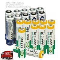 1.2V AA 2500/3000mAh, AAA 1000/1350mAh Ni-MH Rechargeable Battery RC Batteries