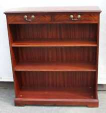 1960's Mahogany Open Bookcase with 2 Shelves and 2 Drawers.