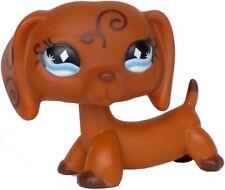 Hasbro Littlest Pet Shop LPS Toy Dachshund Dog Puppy Tattoo Brown Swirl #640