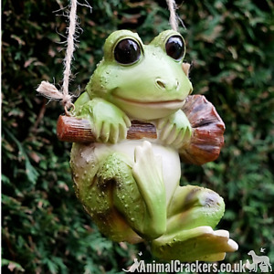 Rope hanging Frog tree garden ornament decoration Frog Toad reptile lover gift