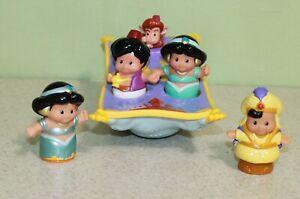 Fisher Price Little People Disney's Aladdin's Magic Carpet Set w/ Jasmine Works
