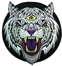 ELECTRIC TIGER GLOW IN THE DARK BACK PATCH THRILLHAUS GID TEETH EYES WHISKERS