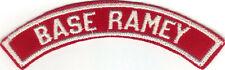 BOY SCOUT BASE RAMEY (PUERTO RICO) MILITARY BASE RED & WHITE HALF STRIP 1/2MBS
