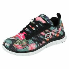 Flat (0 to 1/2 in.) Synthetic Floral Athletic Shoes for Women