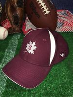 Maple Leafs Sport Fitted Flexfit Hat cap red NWOT Letter S Stanford color h19
