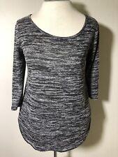 Womens Hollister HI LOW Knit top Shirt M Stretch round bottom tunic 3/4 sleeve