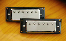 Mini Humbucker Pickups-4 conductor wiring-Nickel Covers-Rings