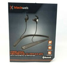 Blackweb Neckband Earphones Bluetooth with Built-In Mic - Black (BWD19AAH04)™