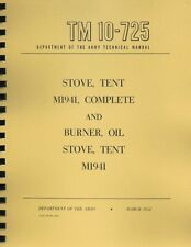 TM10-725 ~ Tent Stove Manual ~ 1952 ~ Reprnt