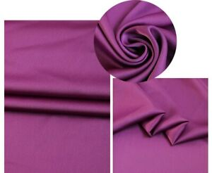 1Yard*148cm Quality Polyester Satin Crepe Fabric Charmeuse Dress Scarf Material