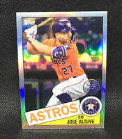 2020 Topps Chrome Jose Altuve #85TC-19 1985 Anniversary Houston Astros #19