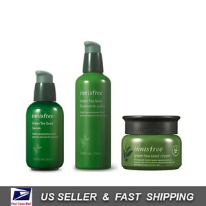 [ INNISFREE ] Green Tea Seed Serum + Essence-in-lotion + Seed Cream SET