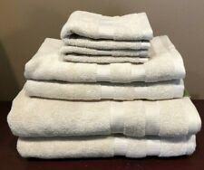 X6 Kate Spade Chattam Stripe Bath Towel Set 100% Cotton Flaxseed Spa Luxury Nwt
