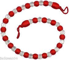 SUPERBE rouge clair Rideau de perles long EMBRASSE 76.2cm