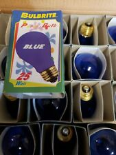 Bulbrite  25 Watt Incandescent A19 Light Bulb Transparent Blue