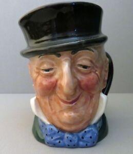 "Vintage 3.25"" Royal Doulton Toby  -Mr. Micawber Character Mug - A Mark"