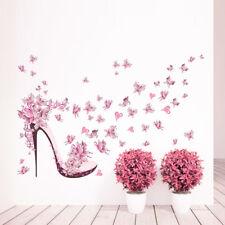 Wandtattoo Schuh Schuhe Frau Baum rosa pink Mädchen Kind Aufkleber Herz Zimmer