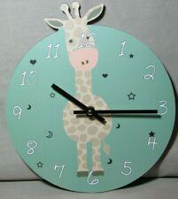 U117 Wanduhr Giraffe Uhr für Kinder  (kleine, große und auch ganz große Kinder)
