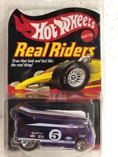 2005 Hot Wheels RLC Real Riders VW Drag BUS Purple w/ Protecto Pack Series 5