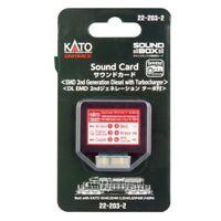Kato 22-203-2 Soundbox Sound Card EMD 2nd Generation Diesel w/ Turbocharger