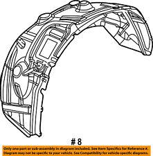 CHRYSLER OEM-Front Fender Liner Splash Shield Left 55372889AG