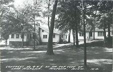 A View of Cottages No 4 & 5, Top Cove, Lake Miltona, Miltona MN RPPC