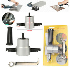 Metal Cutting Dual Head Sheet Nibbler Hole Saw Cutter Drill Tool Tackle Tool