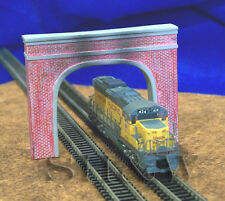 N Scale Dual Track Tunnel Portal - Brick