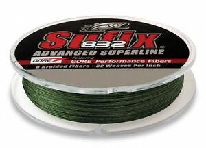 Sufix 832 Advanced Superline Lo Vis Green 300yd 15lb Test Fishing Line 660-115G