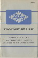 Riley Two Point Six Schedule of Repair Charges 1957 AKD 773