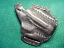 COBRA GUN SKIN BLACK LEATHER MEDIUM SIZE PANCAKE AUTOMATIC PISTOL HOLSTER