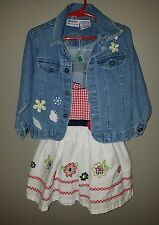 Namebrand Toddler Girl's Outfit Dress & Jean Jacket size 3T