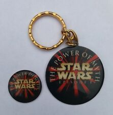 STAR WARS EPISODE 1 THE PHANTOM MENACE POWER OF MYTH TOUR PIN BADGE KEYCHAIN SET