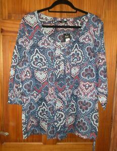 NEW Capsule BLACK Paisley 3//4 Sleeve BARDOT Blouse Tunic Top 14 16 18 20 22 28
