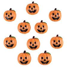 10pcs Cute Halloween Pumpkin Resin Flatback Embellishments Hair Bow Center Craft