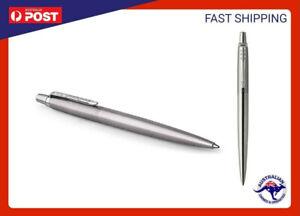 Parker Jotter Stainless Steel Chrome Trim Ballpoint Pen Fine Nib Blue Ink Parker