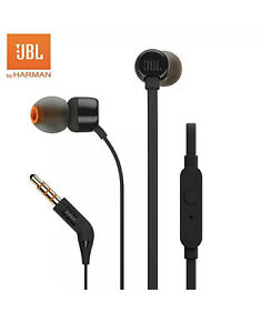 JBL Tune 110 Black Headphones / Earbuds, New In SEALED Box!! Hands Free Calling!