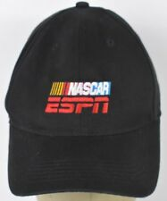 Black NASCAR ESPN Logo NEP Co Logo Embroidered Baseball Hat Cap Adjustable strap