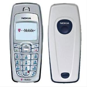 Nokia 6010 Mobile Phone Silver Dualband T-Mobile Cellular Phone 2G GSM 850/1900