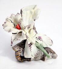 "CAPODIMONTE Porcellane AITA Flower BUD VASE Fine Sculpture, 4 3/4""h Near Mint!"